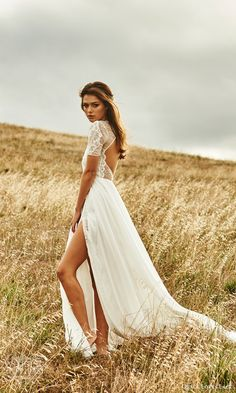 grace loves lace 2015 valentina illusion short sleeve romantic wedding dress keyhole back side view #weddingdresses #2015weddingdresses