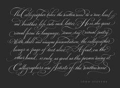 john stevens calligraphy - Google Search