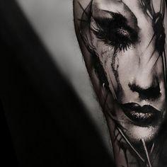 Tattoo artist Kurt Staudinger black and gray realism dark tattoo