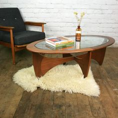 Antique coffee table plans: mid century teak g-plan astro coffee table. Woodworking Table Saw, Woodworking Projects That Sell, Woodworking Plans, Woodworking Videos, Youtube Woodworking, Woodworking Magazine, Woodworking Shop, G Plan Living Room, Living Room Update