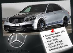 #Mercedes-Benz E63 AMG Posaidon  #cardoings #cars #supercars #auto #BMW #Audi #Mercedes #Deals #automotive