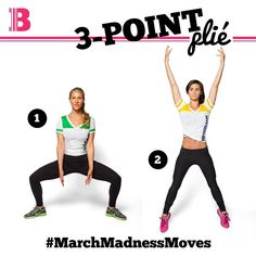 It's the first day of March Madness and we want to see your #MarchMadnessMoves! Check out this 3-Point Plié from Barre Code Co-founders Jillian and Ariana - you'll be sure to get your heart racing with this one! #BarreCodeLove #livebythebarrecode