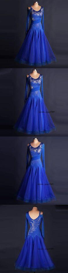Ballroom 152361: Ballroom Dance Dress Modern Waltz Standard Competition Rhinestone Dress N118 -> BUY IT NOW ONLY: $66.1 on eBay!