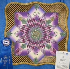 """A Dream of Purple Pineapples"", Small Pieced Quilts - QuiltFest Inc. of Jacksonville, FL"