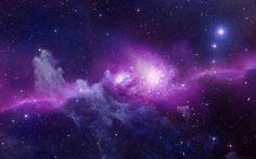 Purple Galaxy HD Wallpaper for Desktop