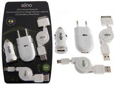Bundle: Kit di alimetazione universale USB con cavo USB-mini e iPod | electromania.co - vendite flash hi-tech prezzo 29.98€