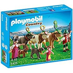 Buy PLAYMOBIL Alpine Festival Procession Playset with discount. Playmobil Country, Collection Playmobil, Floral Headdress, Preschool Toys, Plastic Animals, Imaginative Play, Collector Dolls, People Around The World, Doll Accessories
