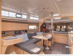 Beneteau Oceanis 38 Weekender with the nav station option and open (non bulkhead) fwd cabin Photo Credit : Nicolas Claris  Juillet 2013 – Ile d'Yeu