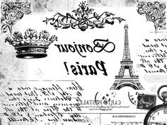 Alex The Pink House: Immagini gratis per lavori creativi. Papel Vintage, Vintage Crafts, Foto Transfer, Transfer Paper, Painting Recipe, Image Paris, French Typography, Altered Canvas, Stencil Printing