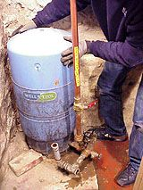Replacing A Pressure Tank On A Residential Water Well System Well Pressure Tank, Low Water Pressure, Water Issues, Water Well, Basement Renovations, Wellness, Basements, Plumbing, Recycling