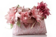 Купить Сумочка с лилиями - авторская сумка, заколка с лилией, лилия сумка, цветы…