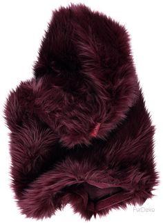 Poduszka dekoracyjna CZUPER bordowy/Faux fur pillow CZUPER maroon