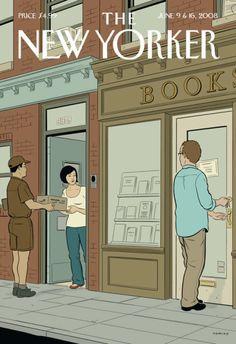"Stylová obálka (""Book Lovers"" by Adrian Tomine, New Yorker)"