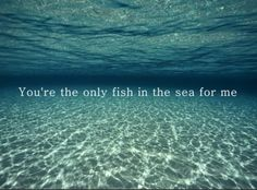 """""""You're my fish in this sea of life and I'm glad I caught you."""""""
