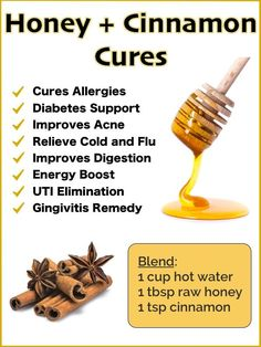 Cinnamon Health Benefits, Nutrition Facts and Side Effects Honey and Cinnamon Benefits and Natural Cures - Dr Axe Natural Health Remedies, Natural Cures, Natural Treatments, Natural Healing, Herbal Remedies, Natural Foods, Uti Remedies, Bloating Remedies, Natural Cough Remedies