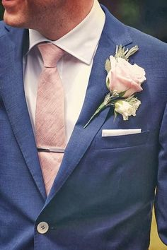 "8. Get Your Groom in on the Color Coordination - How to Pull Off Blush and Bashful If You're A Modern Day Steel Magnolia - Southernliving. From pocket squares to textured ties, he's sure to be blushing as you saw ""I do"" with the perfect shades of pink in his wedding day look.  See more on Pinterest."