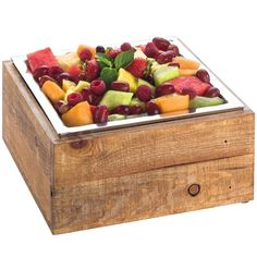 Shop Cal-Mil Rustic Pine Cold Concept Cooling Base - 12 inch x 12 inch x 4 inch. Food Set Up, Rustic Buffet, Bar Displays, Food Stations, Catering Food, Easy Entertaining, Cold Meals, Salad Bar, Bacon Recipes