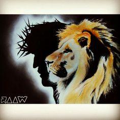 En cuanto al león creo que quiero algo así Christian Warrior, Christian Art, Lion Juda, Lion And Lamb, Prophetic Art, Jesus Art, Lion Of Judah, Lion Art, Jesus Freak