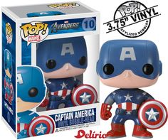 on.fb.me/VZvpPd Marvel Captain America Pop Vinyl Figure [Capitão América]