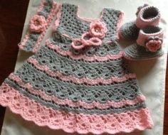 Bebek Çocuk Örgü Elbise Modelleri