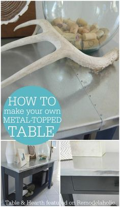 How to Make Your Own Metal Table Top - Table and Hearth on @Remodelaholic