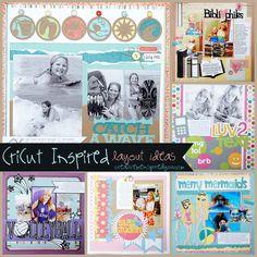 http://creativemeinspiredyou.com/chirp-chirp-cricut-layouts/ Love these fun layout ideas using the Cricut!