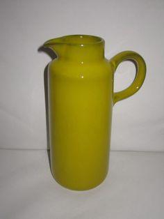 MELITTA-Krug-Kanne-Henkelkrug-gelb-70er-70s-Echt-Selen-Keramik-Pop-Art