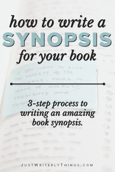 How to write a synopsis for your book. Eight-step process to writing an amazing book synopsis. Creative Writing Tips, Book Writing Tips, Writing Process, Writing Help, Writing Skills, Essay Writing, Book Writing Template, Creative Writing Inspiration, Writing Websites