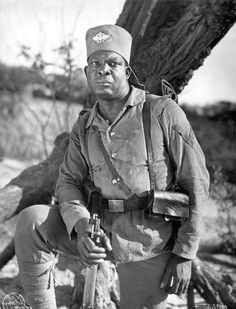 greatwar-1914:  An Askari in German service poses for a photograph.