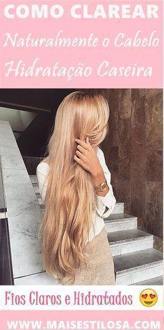 Hidratação Caseira que Clareia o Cabelo Naturalmente! Pretty Hairstyles, Straight Hairstyles, Bronde Hair, Pretty Hair Color, Golden Hair, Super Long Hair, Beautiful Long Hair, Belleza Natural, Platinum Blonde