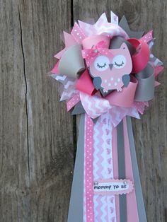 ramillete de ducha-owl búho bebé por bonbow en Etsy