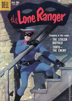 The Lone Ranger (Volume) - Comic Vine Old Comic Books, Comic Book Covers, Old Comics, Vintage Comics, Classic Comics, Classic Tv, Caricatures, Western Comics, Tv Westerns