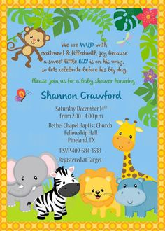 40th birthday ideas safari birthday invitation template free zoo printable jungle animals invitation plus free blank matching printable thank you card stopboris Choice Image