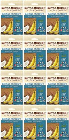 Matts Munchies Organic Fruit Snack 1Ounce Bag Banana Coconut 12 Pack >>> Read more reviews of the product by visiting the link on the image.