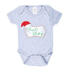 Baby Christmas onesie - Baby Santa Baby onesie - infant Christmas outfit - Santa Clause shirt - Baby Christmas shirt - Baby Santa bodysuit by sugarandlemon on Etsy https://www.etsy.com/listing/213239255/baby-christmas-onesie-baby-santa-baby