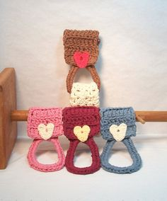 Kitchen Towel Holders. Handmade towel dishcloth by JazzysCrochet