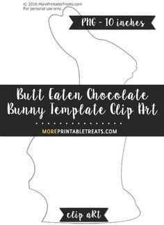 Free Butt Eaten Chocolate Bunny Template - Clipart