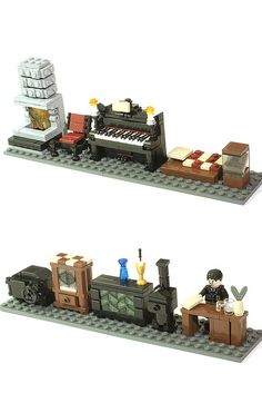 lego things to try, inside a train