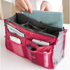 New Women Travel Insert Handbag Organiser Purse Large liner Organizer Tidy Bag Pouch
