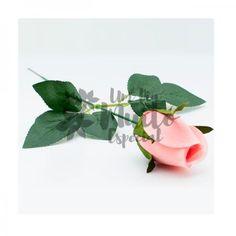 Rosa Artificial de Veludo Rosa Flor