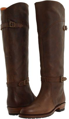 Pin for Later: How to Nail the Ultimate Chip and Joanna Gaines Couples Costume Joanna's Brown Leather Riding Boots Frye Dorado Lug Riding ($220)