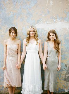 non-matchy bridesmaids
