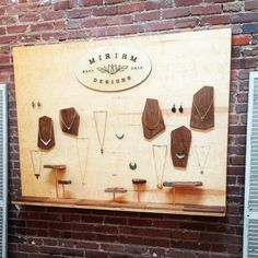 Plywood display wall - idea for craft fair booth