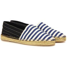 Marc Jacobs Striped Espadrilles (1.865 ARS) ❤ liked on Polyvore featuring shoes, sandals, blue, multi colored sandals, striped espadrilles, blue sandals, multi color sandals and marc jacobs
