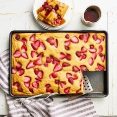 Strawberry Sheet-Pan Pancakes - EatingWell.com