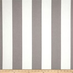Premier Prints Indoor/Outdoor Vertical Stripe Grey from @fabricdotcom  Premier Prints outdoor fabrics are screen printed on spun polyester and have a stain and water resistant finish. These fabrics withstand direct sunlight for up to 1000 hours making them both durable and versatile, perfect for outdoor settings and indoor living in sunny rooms, great family friendly fabric! Create decorative toss pillows, chair pads, placemats, tote bags and much more. To maintain the life of the fabric…