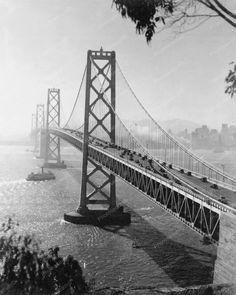 San Francisco Oakland Bay Bridge Vintage 8x10 Reprint Of Old Photo