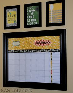 LOVE this calendar idea... when I have time, I'm definitely doing it :)