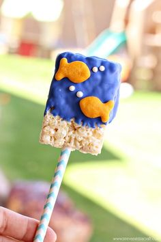 My kids are pretty obsessed with Goldfish Crackers. They love them so much that we planned a goldfish themed party for my son's 2nd birthday, complete with a Goldfish Cracker bar. For his party, I ...
