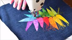 How to make a rainbow feather - tutorial